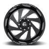 5 LUG VORTEX - D637 GLOSS BLACK & MILLED
