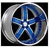 5 LUG VTL BLUE AND CHROME WITH CHROME LIP