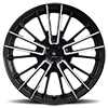 5 LUG V10 INFLUX GLOSS BLACK MACHINED