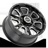 5 LUG 399 FURY GLOSS BLACK WITH MILLED SPOKE