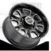 8 LUG 399 FURY GLOSS BLACK WITH MILLED SPOKE