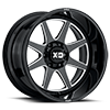 6 LUG XD844 PIKE GLOSS BLACK MILLED