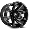 5 LUG XF-220 GLOSS BLACK & MILLED