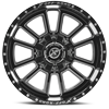 5 LUG XF-225 GLOSS BLACK MACHINED - 20X12