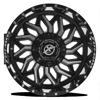 5 LUG XF-228 GLOSS BLACK MILLED