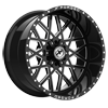 6 LUG XFX-307 BLACK MILLED