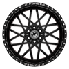 6 LUG XFX-307 BLACK RED MACHINED