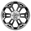 6 LUG XFX-308 GLOSS BLACK BRUSHED