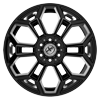 6 LUG XFX-308 BLACK MILLED