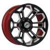 6 LUG XFX-308 BLACK RED MACHINED