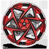 5 LUG ZUDA RED AND BLACK WITH CHROME LIP