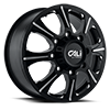 8 LUG BRUTAL SATIN BLACK MILLED SPOKES