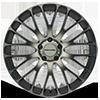 5 LUG KM693 MAZE SATIN BLACK W/ MACHINED DARK TINT FACE