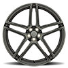 5 LUG CROWN MATTE BLACK W/ MACHINE FACE & DARK TINT & BALL MILLING