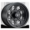 6 LUG CLASSIC III™ BLACK - 15X10 SATIN BLACK W/CLEAR COAT