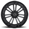 6 LUG T-21 GLOSS BLACK W/ MILLED SPOKES