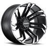 6 LUG T-21 MATTE BLACK W/ MACHINED FLANGE