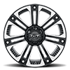 6 LUG T-22 GLOSS BLACK W/ MILLED SPOKES AND STAINLESS STEEL BOLTS