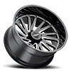 8 LUG T2A GLOSS BLACK W/ MILLED SPOKES
