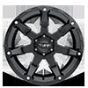 6 LUG T4A GLOSS BLACK W/ MILLED SPOKES