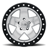 5 LUG CRAWLER BEADLOCK SILVER W/ MIRROR FACE AND BLACK LIP RING