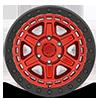 6 LUG RENO BEADLOCK CANDY RED W/ BLACK RING
