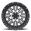 6 LUG ALAMO GLOSS BLACK W/ MACHINED FACE & STAINLESS BOLTS