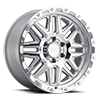 6 LUG ALAMO SILVER W/ MIRROR FACE & STAINLESS BOLTS