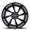 8 LUG BLASTER GLOSS BLACK W/ MILLED SPOKES