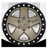 6 LUG CRAWLER BEADLOCK MATTE BRONZE W/ MATTE BLACK LIP RING17X8.5