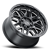6 LUG HOLLISTER GLOSS BLACK W/ MILLED SPOKES
