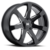 5 LUG MOZAMBIQUE GLOSS BLACK WITH MILLED SPOKE