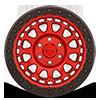 6 LUG PRIMM BEADLOCK CANDY RED W/ BLACK RING