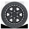 6 LUG RENO BEADLOCK MATTE BLACK W/ BLACK BOLTS
