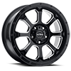 5 LUG 219 NEMESIS CUV GLOSS BLACK WITH MILLED ACCENTS AND CLEAR COAT