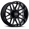 8 LUG 231 BUTCHER GLOSS BLACK WITH MILLED ACCENTS AND CLEAR COAT