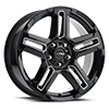 5 LUG 258 PROWLER CUV GLOSS BLACK WITH MILLED ACCENTS AND CLEAR COAT