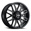 6 LUG 231 BUTCHER GLOSS BLACK WITH MILLED ACCENTS AND CLEAR COAT