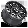 6 LUG 399 FURY GLOSS BLACK WITH MILLED SPOKE