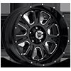 5 LUG 399 FURY GLOSS BLACK WITH MILLED SPOKES - 20X10