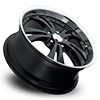 5 LUG 539 SHOCKWAVE GLOSS BLACK WITH MACHINE LIP