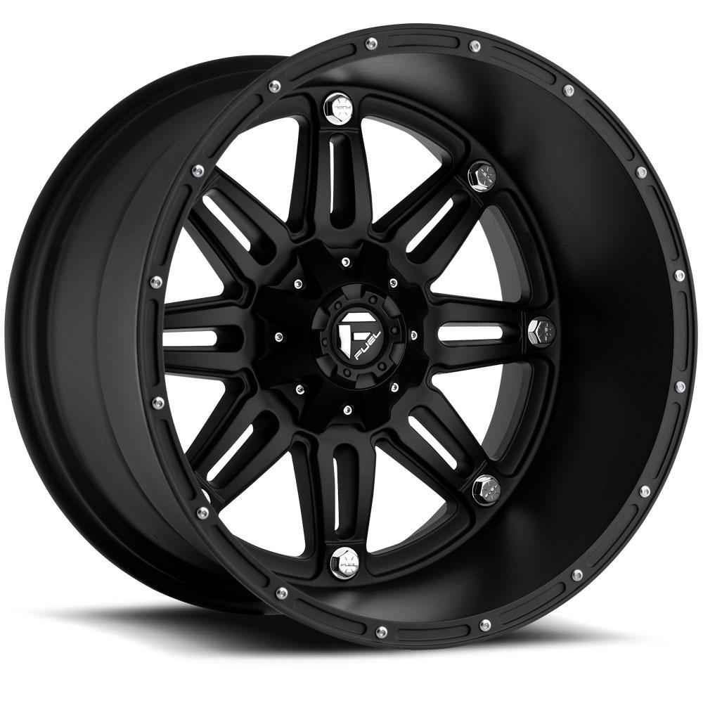 Fuel Deep Lip Wheels Hostage D531 Socal Custom Toyota Tacoma Long Bed 8 Lug Matte Black
