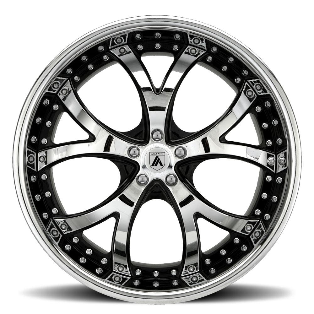 asanti wheels af143 wheels socal custom wheels 1957 Chrysler Diablo 5 lug black machined