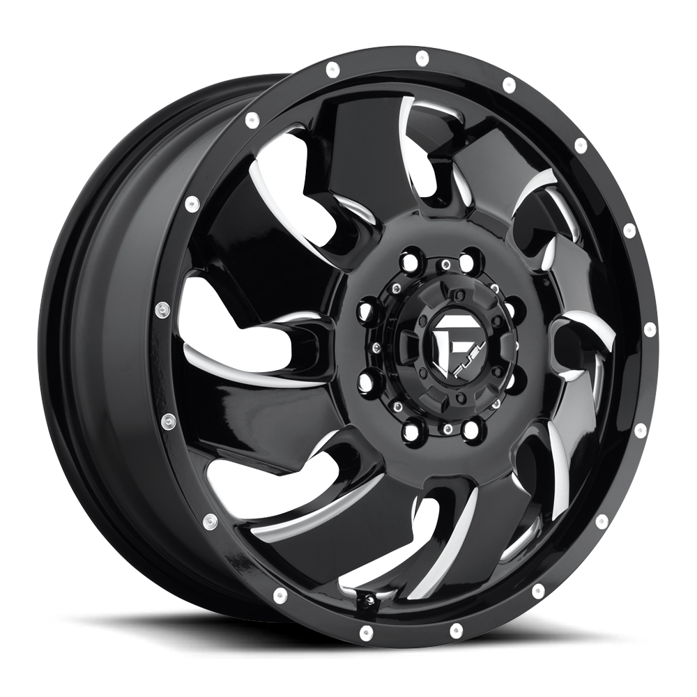 Fuel Dually Wheels Cleaver Dually Front D574 Wheels
