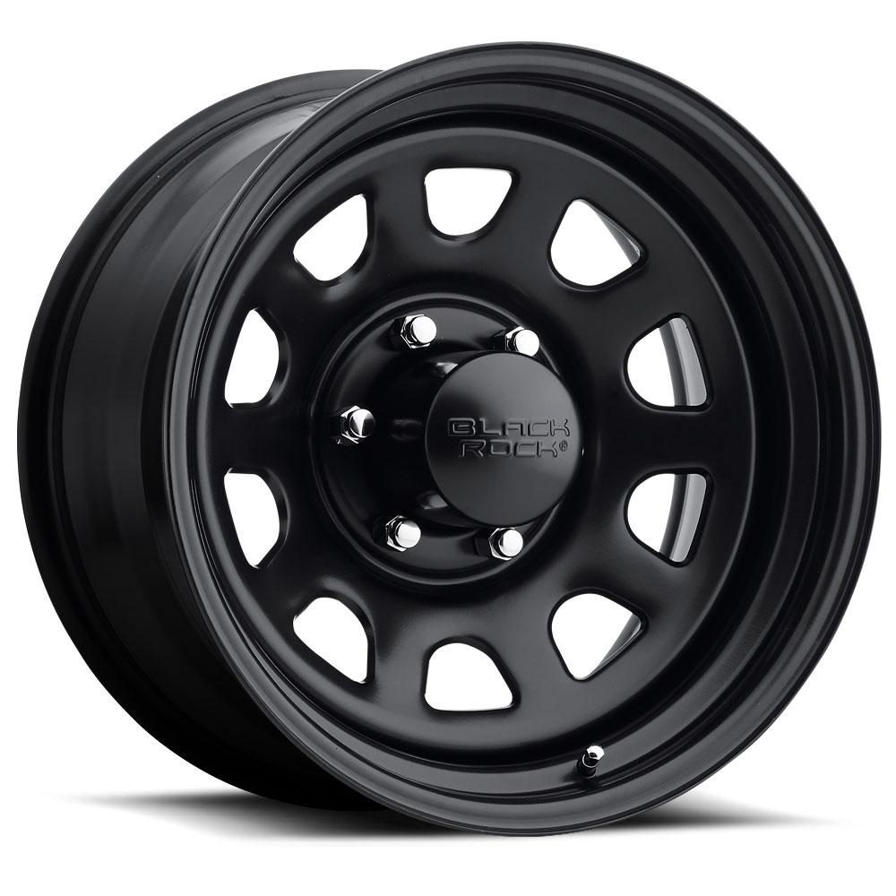 Black rock series 942 type d steel wheels socal custom for 17 inch d window wheels