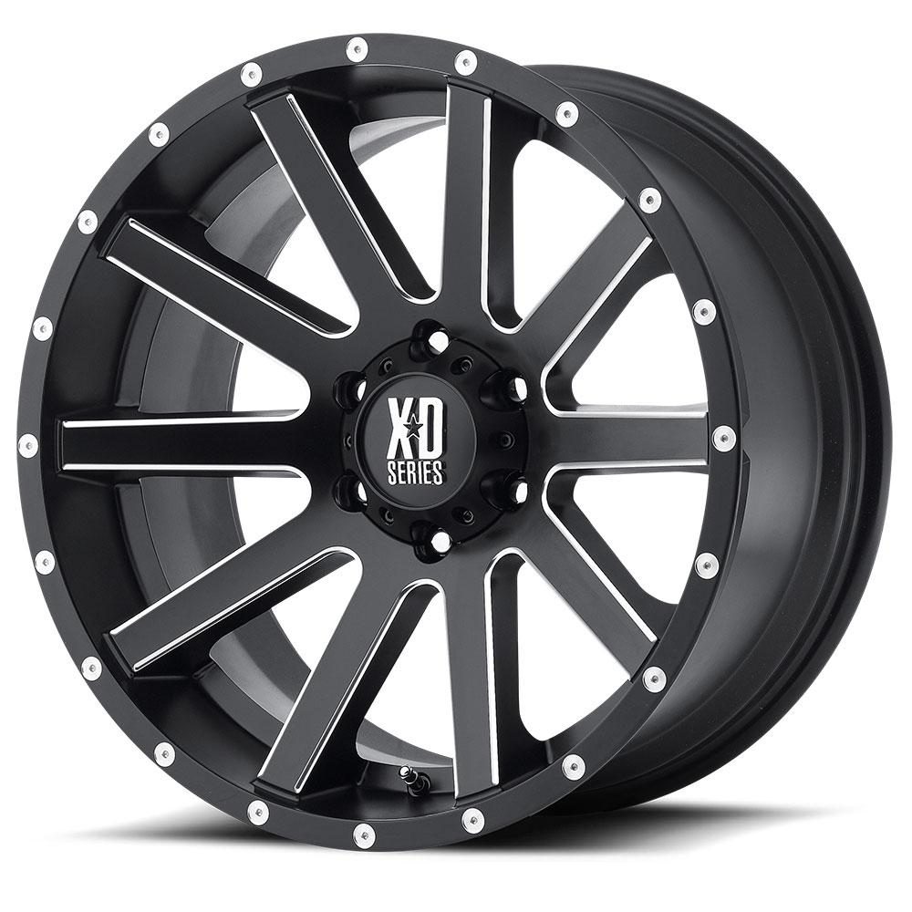 18 Inch Black Wheels Rims Jeep Wrangler JK Moto Metal MO970 5x127 Lug SINGLE 1